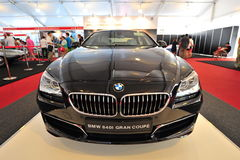 BMW 640i gran coupe on display during Singapore Yacht Show at One Degree 15 Marina Club Sentosa Cove Stock Photo