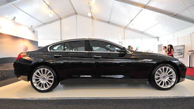 BMW 640i gran coupe on display during Singapore Yacht Show at One Degree 15 Marina Club Sentosa Cove Stock Photography