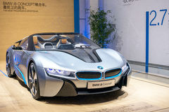 The BMW i8 hybrid car Stock Photos