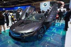 BMW i8 hybrid production car on display Royalty Free Stock Image