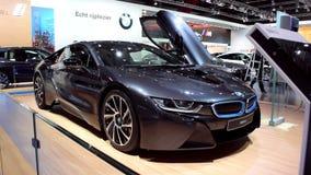 BMW i8 Hybrid sports car stock video footage