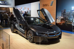 BMW i8 Luxury Moscow International Automobile Salon Royalty Free Stock Photography
