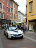 BMW i8 at Mille Miglia 2015 Royalty Free Stock Photos
