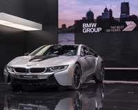 2018 BMW i8, NAIAS 图库摄影