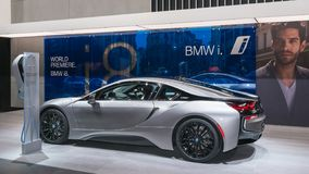 BMW 2018 i8, NAIAS immagine stock