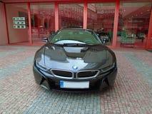 BMW I8 op de straat Royalty-vrije Stock Foto's