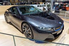 BMW i8 på Genève 2014 Motorshow Arkivfoto