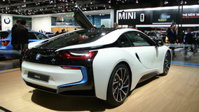 BMW i8 plug-in hybrid stock video footage