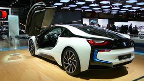BMW i8 plug-in hybrid stock video