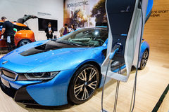 BMW i8 Plug-In Hybrid, Motor Show Geneva 2015. Stock Photo