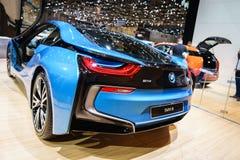 BMW i8 Plug-In Hybrid, Motor Show Geneva 2015. Stock Image