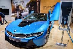 BMW i8 Plug-In Hybrid, Motor Show Geneve 2015. Royalty Free Stock Image