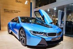 BMW i8 Plug-In Hybrid, Motor Show Geneve 2015. Stock Photos
