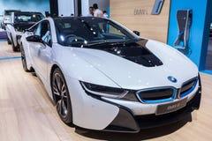 BMW i8 a plug-in hybrid sports car Stock Image