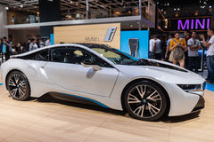 BMW i8 a plug-in hybrid sports car Royalty Free Stock Images