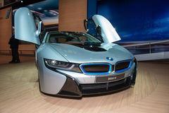 BMW i8 plug-in-hybrid sportscar - world premiere Royalty Free Stock Photography