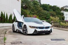 BMW i8 2014 provdrev Arkivfoto