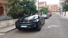 Bmw i8 on the road Stock Photography