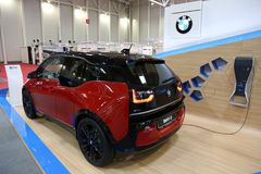 BMW i3s electric at SIAB 2018, Romexpo, Bucharest, Romania. The international automobile saloon in Bucharest Royalty Free Stock Images