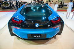 BMW i8 at the Singapore Motorshow 2015 Stock Photography