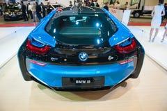 BMW i8 at the Singapore Motorshow 2015 Stock Photography