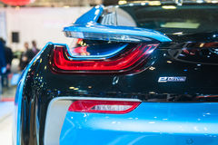 BMW i8 at the Singapore Motorshow 2015 Royalty Free Stock Image