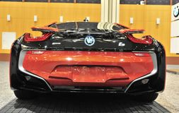 BMW I8 Sports Car Rear View Stock Images