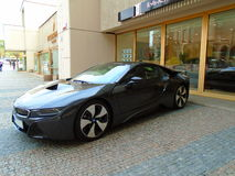 Bmw I8 on the street Stock Image
