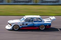BMW 320i tävlings- bil Arkivbild