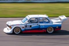 BMW 320i tävlings- bil Arkivfoton