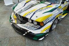BMW 320i Turbo Роем Лихтенштейном Стоковое фото RF