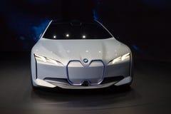 BMW i Vision Dynamics Concept Car. Frankfurt, Germany - Sep 20, 2017: New BMW i Vision Dynamics Concept car  presentation at the Frankfurt International Royalty Free Stock Images