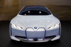 BMW i Vision Dynamics electric concepot car. FRANKFURT, GERMANY - SEP 13, 2017: BMW i Vision Dynamics electric concepot car debut at the Frankfurt IAA Motor Show Royalty Free Stock Image