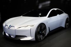 BMW i Vision Dynamics electric concept car. FRANKFURT, GERMANY - SEP 13, 2017: BMW i Vision Dynamics electric concept car at the Frankfurt IAA Motor Show Royalty Free Stock Photos