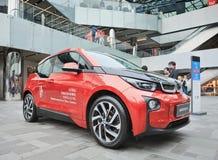 BMW i3 wystawiający w handlowym terenie, Pekin, Chiny Zdjęcie Stock