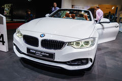 BMW 435i xDrive Cabriolet, Motor Show Geneva 2015. Royalty Free Stock Photo