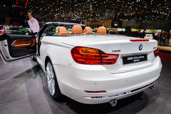 BMW 435i xDrive Cabriolet, Motor Show Geneva 2015. Stock Photos