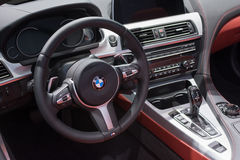 BMW 650i xDrive Convertible interior Stock Image