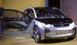 BMW i3 - Принципиальная схема BMW i3 показана Стоковое Изображение RF