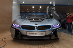 BMW i8 Concept - Geneva Motor Show 2012 Royalty Free Stock Images