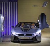 BMW i8 - Se muestra el concepto de BMW i8 Imagen de archivo libre de regalías