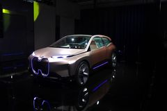 BMW-iNext Konzeptauto an CES 2019 stockfotos
