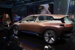 BMW-iNext Konzeptauto an CES 2019 stockbilder