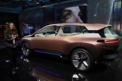 BMW iNext pojęcia samochód przy CES 2019 obrazy stock