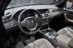 BMW-Innenraumansicht lizenzfreie stockfotos