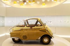 BMW 1955 Isetta in BMW-Museum, Munchen Stock Foto