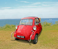Bmw isetta at coast Stock Photography