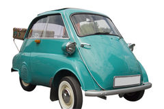 BMW Isetta with an old case. Vintage German Tricar - ready for vacation Stock Image