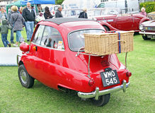 Bmw isetta with picnic basket Royalty Free Stock Photo
