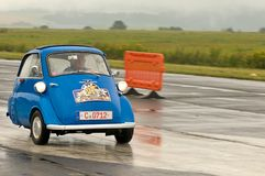 BMW Isetta - speed test Royalty Free Stock Photography